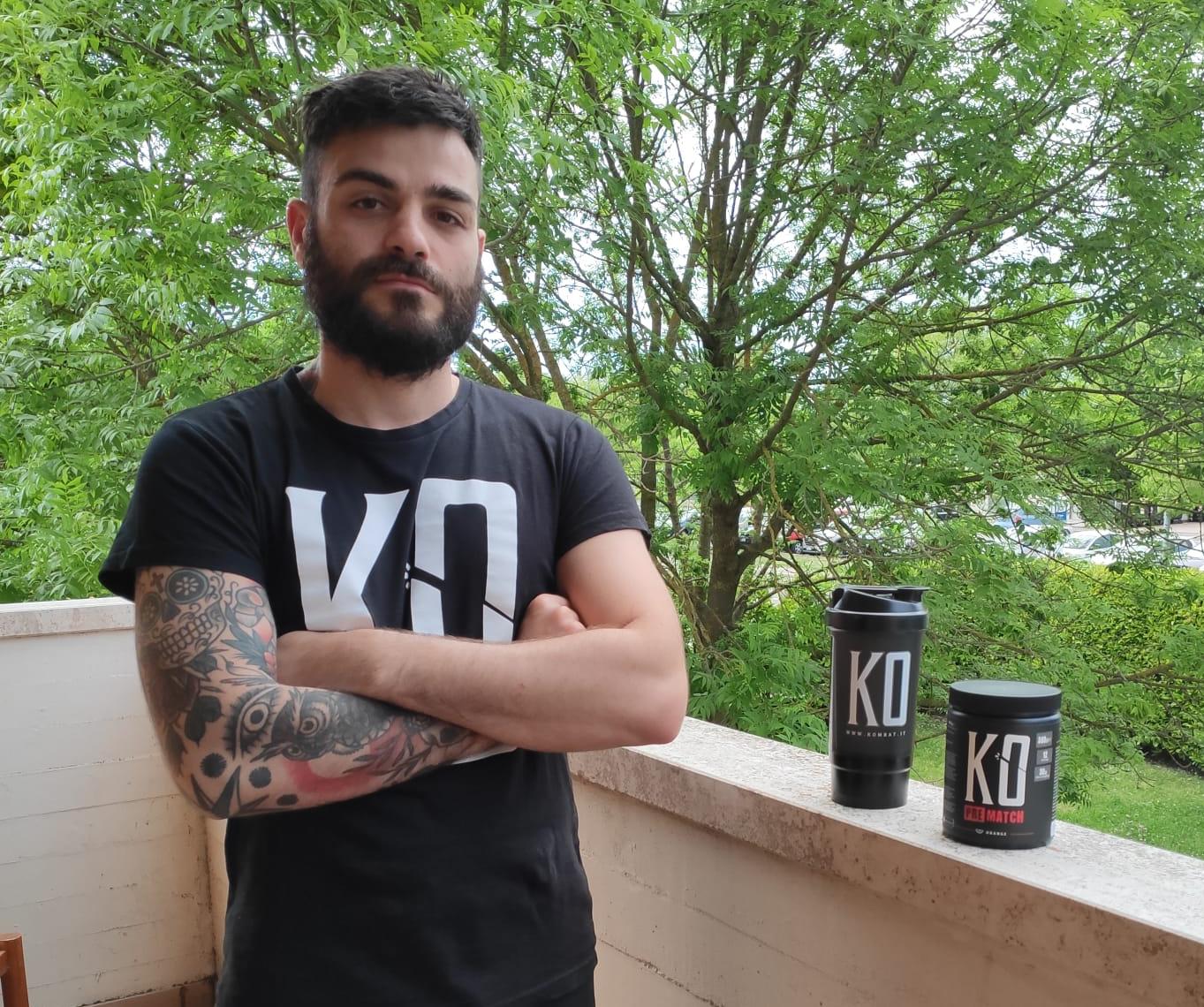 Cristian Faustino e il suo integratore pre-match KO di Kombat